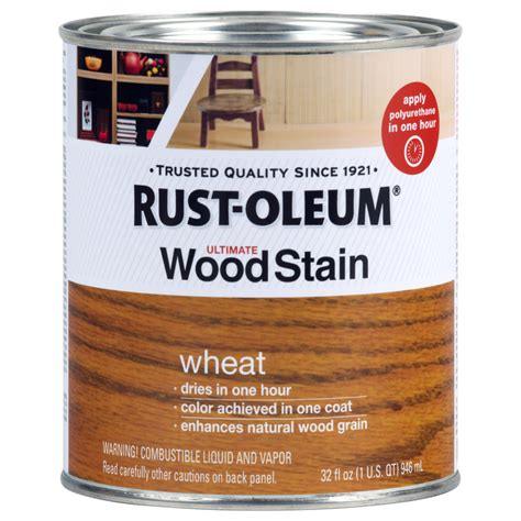 shop rust oleum ultimate wood stain  quart wheat oil wood