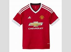 Adidas Manchester United Youth Home '15'16 Soccer Jersey Real RedWhiteBlack AC1418