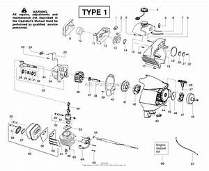 Poulan Sm446e Pole Pruner Type 1 Parts Diagram For Engine
