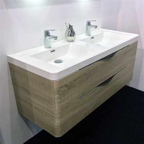 meuble salle de bain 120 cm ch 234 ne 2 tiroirs plan composite nature