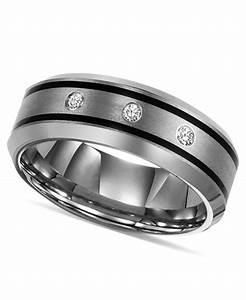 triton tungsten ring diamond wedding band 1 10 ct tw With triton tungsten wedding rings