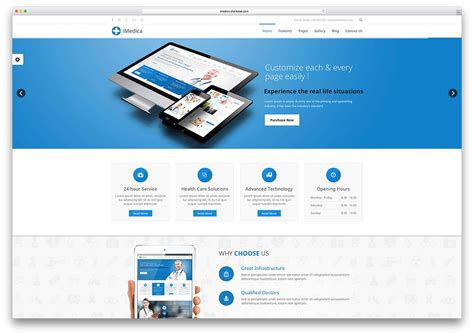 Html5 Website Templates Imedica Classic Html5 Website Template Websites