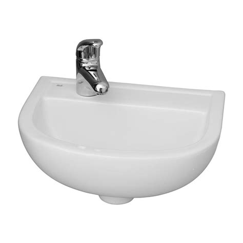 wall mounted basin sink barclay products compact 15 in wall mounted bathroom sink