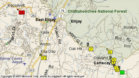 Map of the Apple Orchards and Roadside Stands in Ellijay ...
