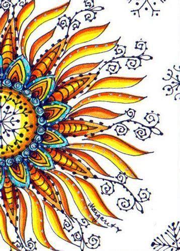 TRADED...WINTER SUN #4 | Sun art, Doodle art, Zentangle art