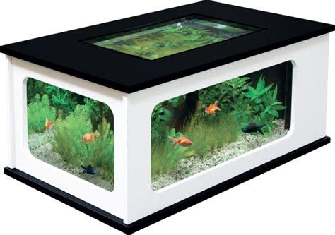 aquarium table basse pas cher noir et blanc 192 litres