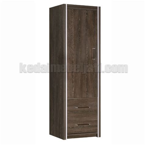 beli lemari pakaian minimalis jati 1 pintu denver murah