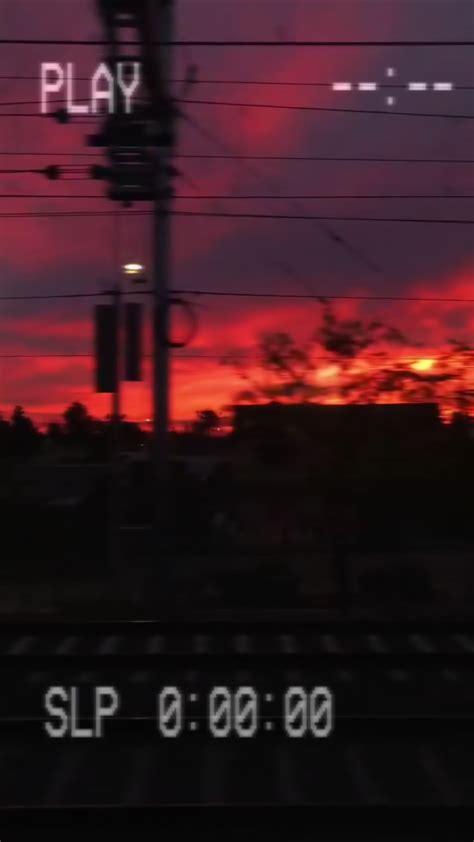 sunset aesthetic tumblr sad vhs