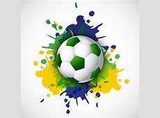 Soccer beautiful texture with brazil colors grunge splash