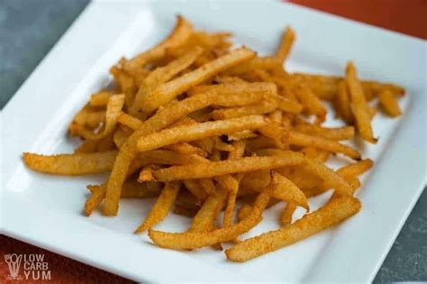 fries jicama french keto carb low air fryer recipe there close making root serving