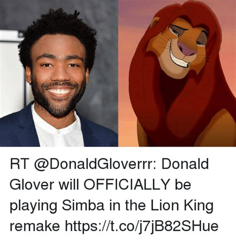 donald glover simba rt donald glover will officially be playing simba in the