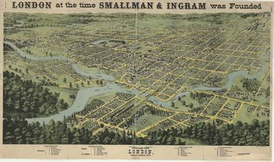 """""""London at the time Smallman & Ingram was founded: Bird's ..."""