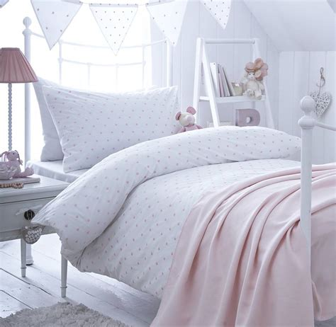 Girl's Pink Spot Embroidered Bedding By The Fine Cotton