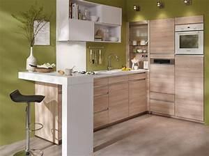 des petites cuisines astucieuses et elegantes elle With petite cuisine americaine avec bar