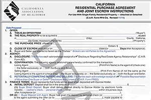 ca purchase agreement form california purchase contract