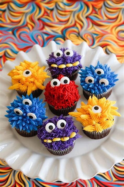monster iffic cupcakes cute  monster cupcakes