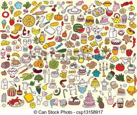 Big Food And Kitchen Collection Of Fine Small Hand Drawn. Vintage Kitchen Recipes. Kitchen With Dark And White Cabinets. Blue Kitchen Magnolia. Corner Kitchen Gonzales