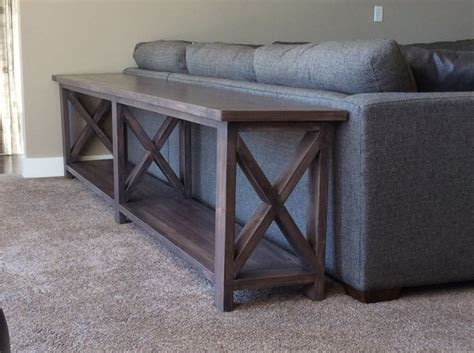 ana white extra long  middle shelf rustic  console diy projects diy home decor
