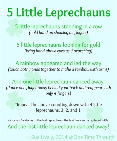 leprechaun finger puppets amp rhyme a well finger plays 151 | edbf13e67c3b740af8df05328e78f3fd