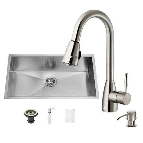 all in one kitchen sink vigo all in one undermount stainless steel 32 in single