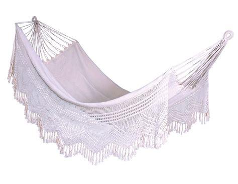 Hammock Wholesale by Wholesale Hammock White Cotton Fabric Net Tassels