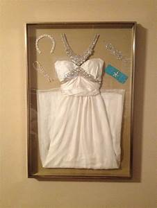 display your wedding dress and accessories in a shadow box With shadow box for wedding dress