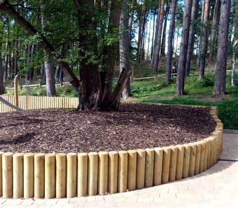 pole retaining walls google search garden design