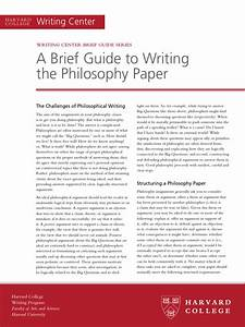 A Brief Guide To Writing The Philosophy Paper Pdf