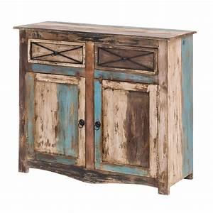 Vintage Look Möbel : kommode largo 100cm breit aus massivholz im vintage look kaufen bei ideal group kg ~ Orissabook.com Haus und Dekorationen