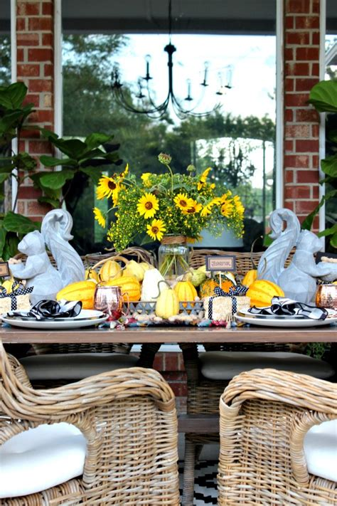 Fall Harvest Tablescape  Dimples And Tangles