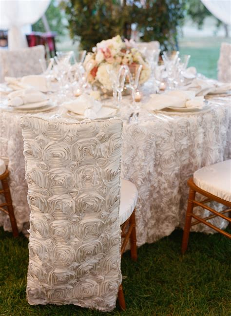 White Rosette Chairvers Elizabeth Anne Designs The