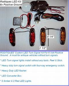 6v Negative  U0026 Positive Ground Turn Signal Switch  U0026 Led