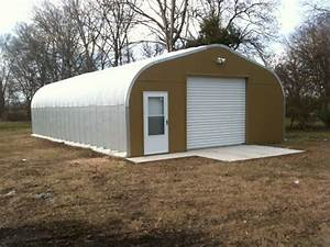 quonset hut garage garage design ideas With corrugated steel shed kits
