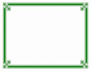 Green elegant border   Chainimage
