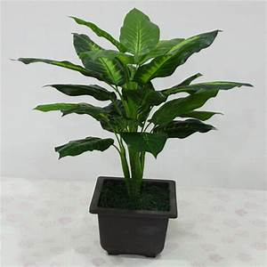 Large 50CM Evergreen Artificial Plant 25 Leaves Lifelike ...