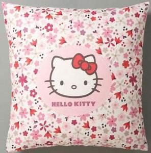 Taie D39oreiller Hello Kitty Flora Rose Et Blanc Hello