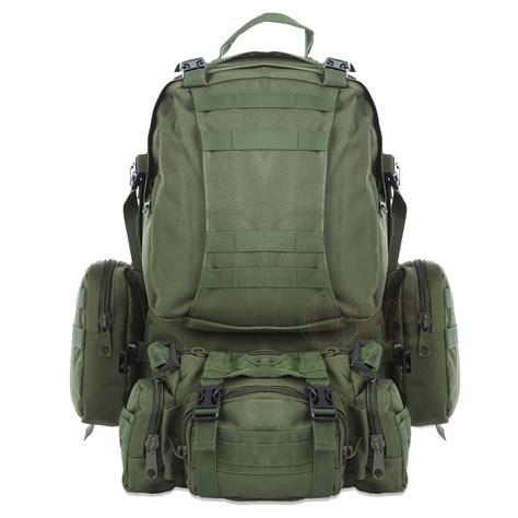 mochila militar senderismo de alta capacidad verde militar