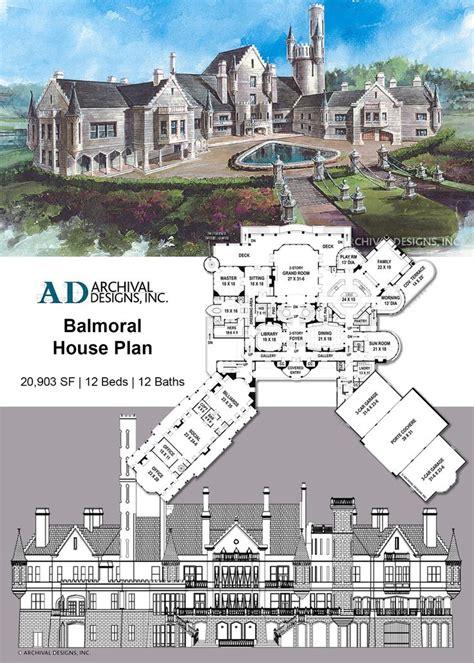 balmoral house plan balmoral house house plans mansion castle house plans