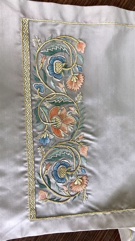 needlework — pinterest.com | Border embroidery designs ...