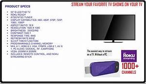 Roku 50 U0026quot  1080p Smart Led Hd Tv Proscan Plded5030a