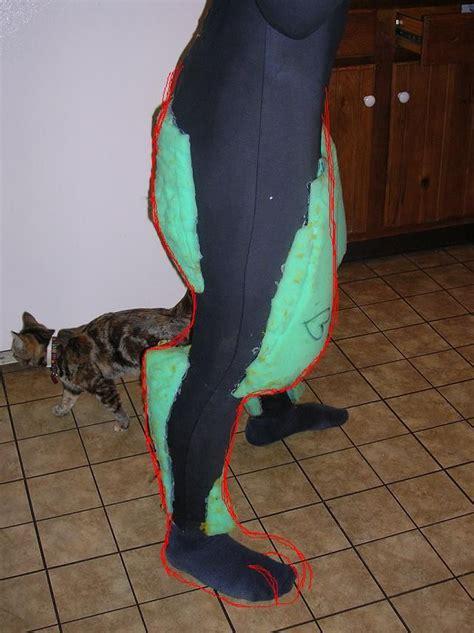 fursuit costume leg wolf tutorial legs furry paws fursuits foam suit head ref digitigrade animal costumes giant suits realistic keaton