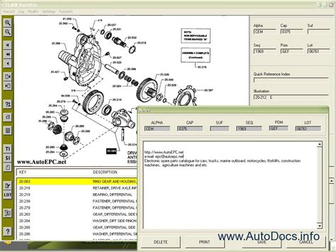 clark forklift truck parts pro  parts catalog repair