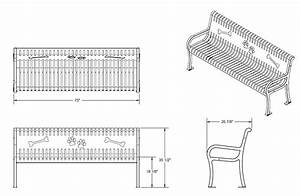 Dimensions for outdoor benches | Park tool