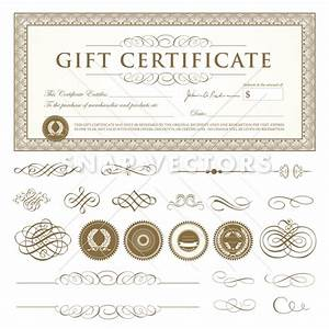 vector gift certificate template set snap vectors With gift certificate template ai