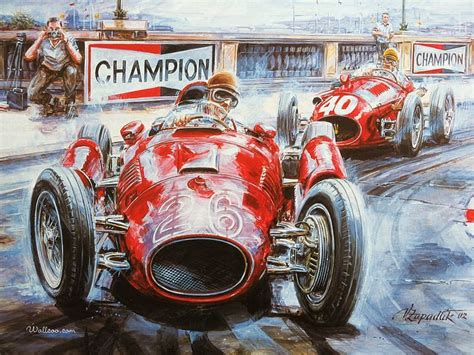 Vintage Cars And Racing Scene, Automotive Art Of Vaclav