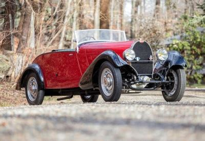 Early Bugatti Models by Exquisite Bugatti Type 49 Roadster Leads Early Entries For