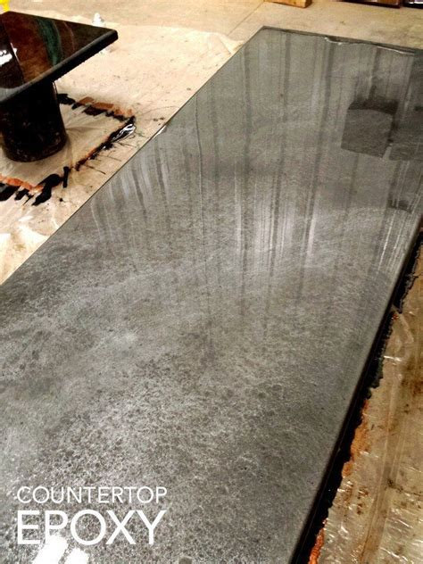 love  silver metalic epoxy resin countertop