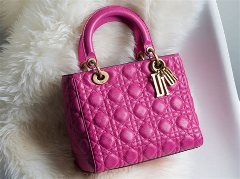 color crushing   lady dior bag  hot pink purseblog