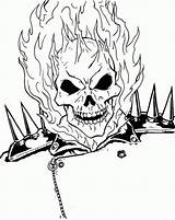 Ghost Rider Coloring Ghostrider Face Burning Printable Drawing Boys Superheroes Marvel Letscolorit Tattoo Ghosts Gost Designlooter Drawings Super Library Clipart sketch template
