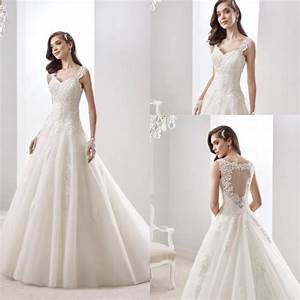 2016 charming lace white ivory a line wedding dresses for A line wedding dresses with straps